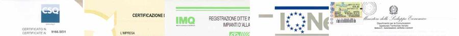 SEI Sistemi di Sicurezza di Padova è un'azienda in possesso di certificati e attestati