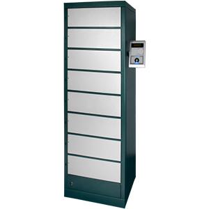 Compianto controllo accessi con gestione chiavi tramite colonna con apertura controllata
