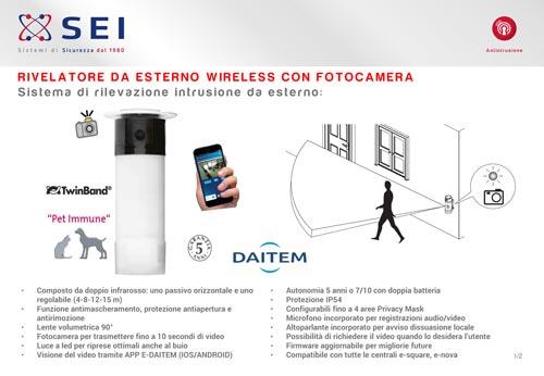 Scheda Tecnica Sensore esterno DaitemSH156AX
