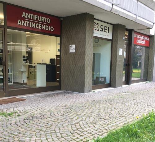 SEI Sistemi di Sicurezza Padova showroom in via Pellizzo