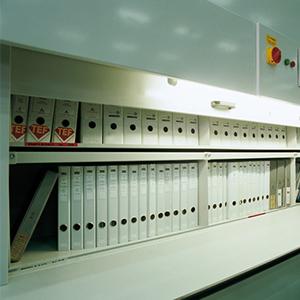 Gli Archivi Rotanti proposte da SEI Sicurezza come Sistemi di archiviazione documenti cartacei